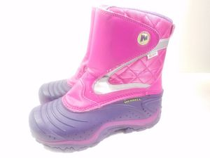 Merrell Childrens Kids Youth Girls Winter Slip On Snow Boots Size 2 Pink Purple for Sale in Walton Hills, OH