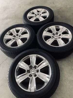F-150 F150 Expedition Wheels Rims Tires Rines Platinum for Sale in Gardena, CA