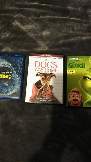 The Meg, A Dogs Way Home, The Grinch for Sale in Tacoma, WA