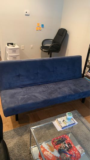 Blue Futon Couch for SALE for Sale in Philadelphia, PA