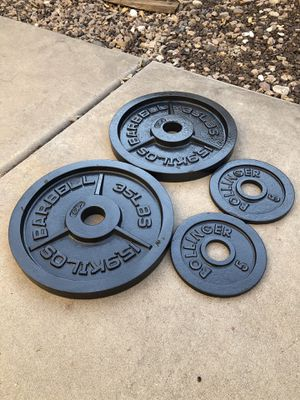Olympic Weight Plates (80 lbs) for Sale in Gilbert, AZ