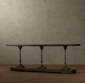 """RESTORATION HARDWARE 19TH C. FRENCH ZINC AND CAST IRON 92"""" CONSOLE for Sale in Nashville, TN"""