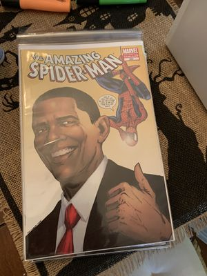 10 Spider-Man-Obama comic books. Great condition. $12 each. $100 for all ten. for Sale in Norfolk, VA