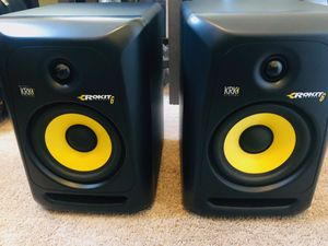 And pKRK rocket6 powered studio monitor speakers for Sale in Tampa, FL