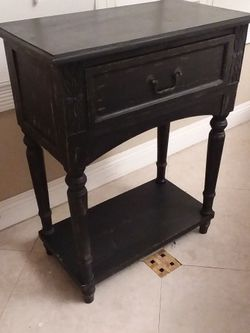 Wood Black One Drawer Entry Table Side Table for Sale in San Dimas,  CA
