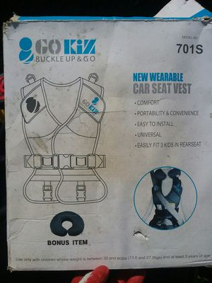 GOKIZ Car Seat/ Air Plane Vest for Sale in The Bronx, NY