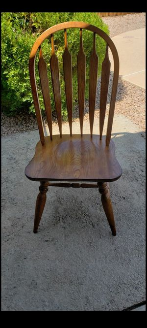 Heavy Wooden Dining Chairs for Sale in Chandler, AZ