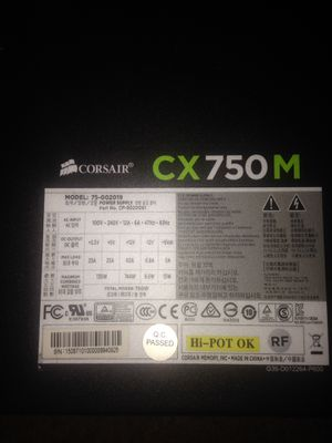 Corsair 750watt power supply for Sale in Detroit, MI