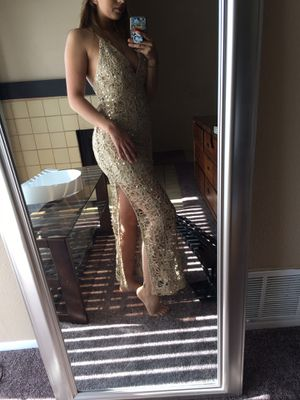 Gold prom dress for Sale in Chino Hills, CA