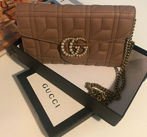 Gucci marmont wallet on chain beige purse for Sale in Los Angeles, CA