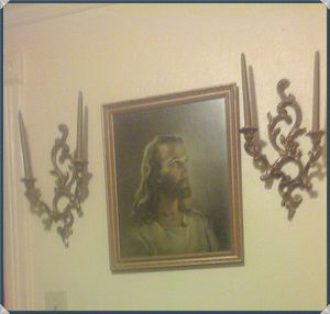 Beautiful Home Interior Picture of Jesus with Sconcre for Sale in North Ridgeville, OH