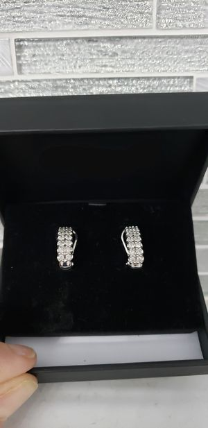 Beautiful 1/2 Carat Diamond Hoop Earrings for Sale in HOFFMAN EST, IL