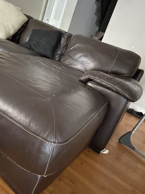 Couch leather sectional for Sale in Plantation, FL