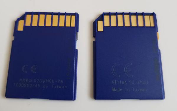 2 Pack Transcend 2GB 2 GB SD Secure Digital Flash Memory Card for Older Cameras.