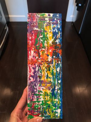 """Textured Rainbow Painting 4x12"""" for Sale in Columbus, OH"""