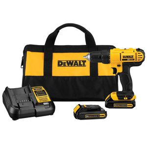 20-Volt MAX Lithium-Ion Cordless 1/2 in. Drill/Driver Kit with (2) 20-Volt Batteries 1.3Ah, Charger and Tool Bag for Sale in Falls Church, VA