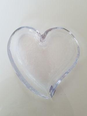 Simon Pearce Artist Handbkown Glass Art Heart Dish for Sale in St. Louis, MO