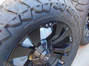 NEW 20X9 Satin Black Raceline Rims LT 305 55 20 AMP Tires*8X6.5*+20MM* for Sale in Aurora, CO