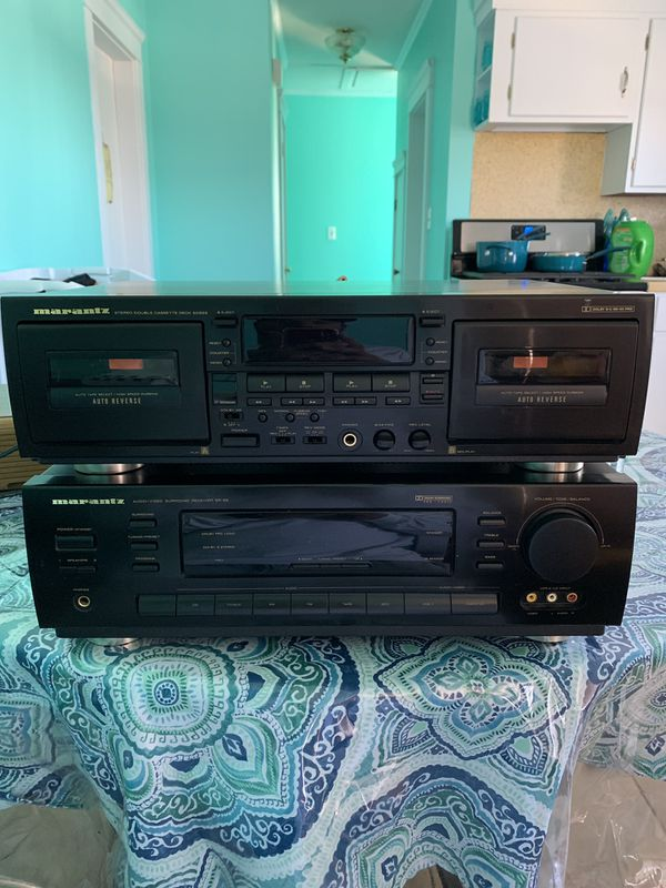 Marantz Receiver with tape deck and 2 subwoofers
