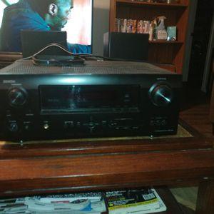 Denim Receiver and 2 Polk Audio Shelf Speakers for Sale in Portsmouth, VA