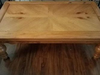 Pine Coffee And End Table for Sale in Colton,  OR