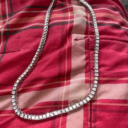 14K Gold Silver IP Tennis Chain Choker 5mm VVS Lab Diamond Hip Hop ICED Necklace for Sale in Pensacola,  FL