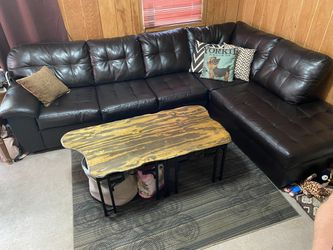 Dark Brown Leather Couch 3 months old for Sale in Maple Heights,  OH
