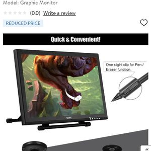 Graphics Design Tablet Ugee 1910B for Sale in New York, NY