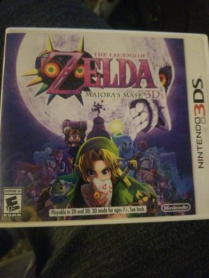 The legend of zelda Majoras mask 3DS for Sale in Quincy, IL