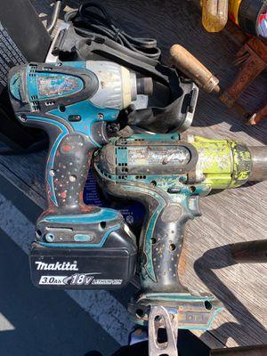 Makita drills plus 1 battery $80 for Sale in Oakland, CA