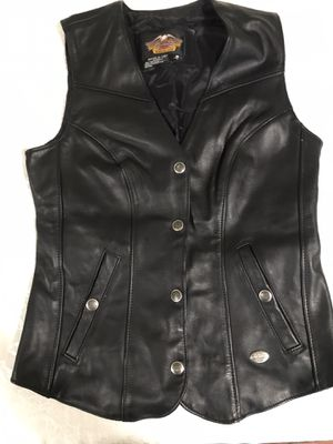 Harley Davidson Leather Vest & Crescent Chaps S for Sale in Woodcliff Lake, NJ