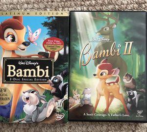 Bambi and Bambi II DVD's for Sale in Camas, WA