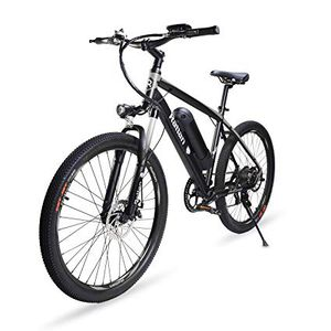 Rattan 26 inch Aluminum Electric Mountain Bike Shimano 7 Speed E-Bike 36V 10.4Ah Lithium Battery 350W Electric Bicycle 26 inch Adult Assisted E-Bike for Sale in Baltimore, MD