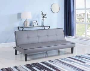 New grey leather sofa bed futon sleeper for Sale in Miami, FL