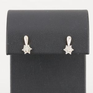 10k white and yellow gold diamond earrings for Sale in Glassport, PA