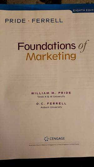 Foundations of Marketing 8th edition for Sale in Philadelphia, PA