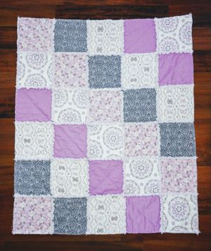 Purple Butterfly Rag Quilt for Sale in Lakeland, FL