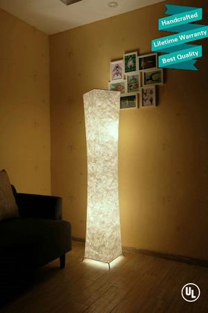 61'' Creative LED Floor Lamp, Softlighting Minimalist Modern Contemporary with Fabric Shade & 2 Bulbs Floor Lamps for Sale in Henderson, NV