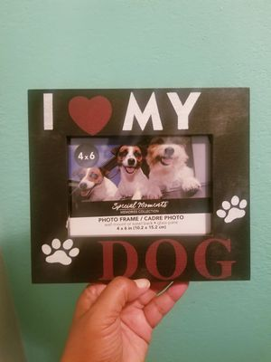 I Live My Dog Picture Frame..Size 4x6..Like New for Sale in Modesto, CA