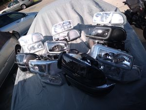Well they got about a good 15 pairs of Sierra headlights hit me up ASAP need to get rid of them as soon as possible priced to sell trades welcome for Sale in Hacienda Heights, CA