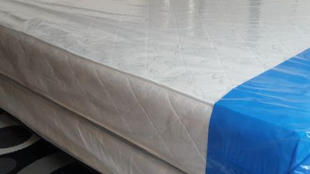 Queen Size Quilted Mattress + Box Spring for Sale in Silver Spring,  MD