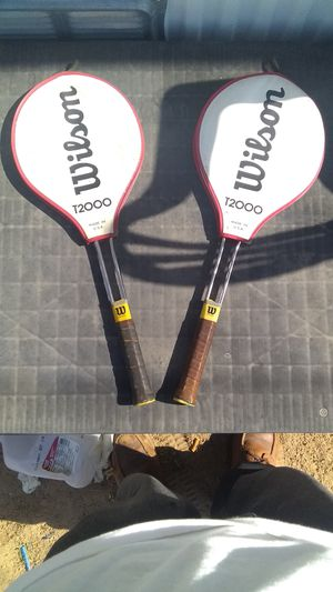 Wilson t2000 tennis rackets with cover's for Sale in Albuquerque, NM