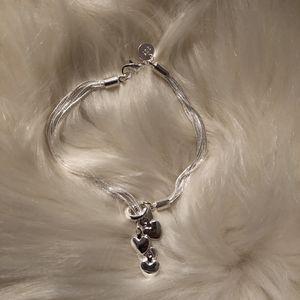 Sterling Silver Heart Bracelet for Sale in Elk Grove Village, IL