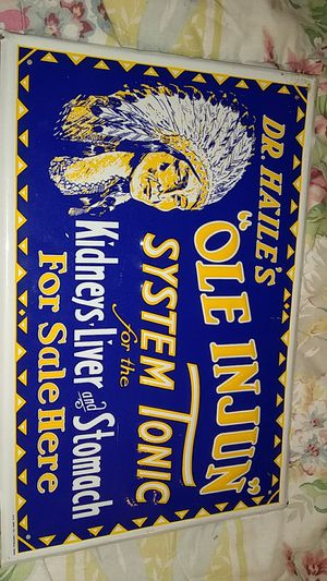 Vintage embossed quack tonic sign for Sale in Kingsport, TN