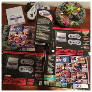 NEW Snes Super Nintendo Classic Mini + 200 best games + pixel pal for Sale in New York, NY