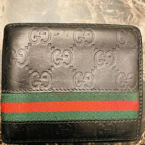 Guccissima Black Leather Web Bi-fold Wallet for Sale in San Diego, CA
