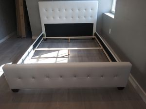 $289 white Queen bed frame brand new free delivery same day for Sale in Miramar, FL