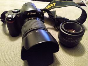 Nikon D40 with lenses for Sale in Chino, CA