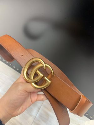Gucci Belt Brown color with Gold Brass Buckle brand new Authentic for Sale in Queens, NY