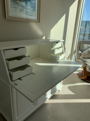 White desk with drawers and hutch for Sale in Reston, VA